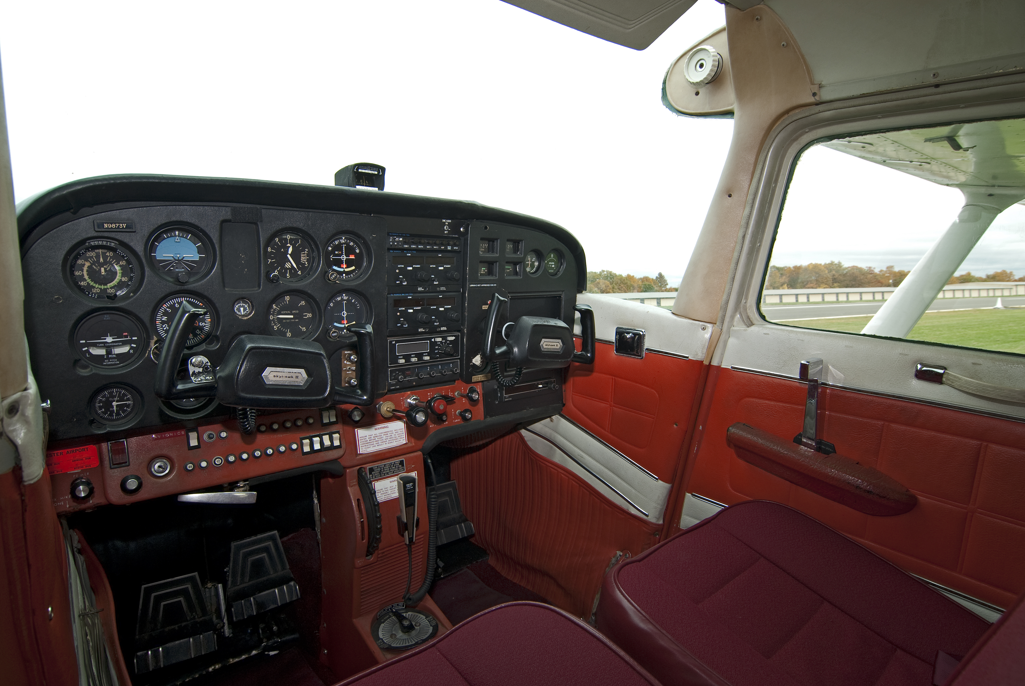 Interior of the Cessna 172 Skyhawk at Chester Airport